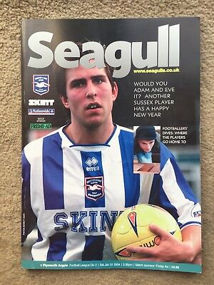 Brighton & Hove Albion v Plymouth Argyle - Nationwide League Div 2 2003/04