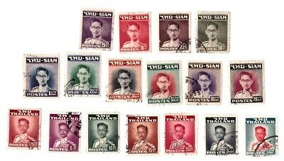 Thailand Stamps.  King Bhumibol Adulyedej Permanent Issue 1947-49