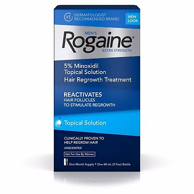 Rogaine Extra Strength 5% Minoxidil Hair Regrowth  Treatment 3 Month Supply NEW!