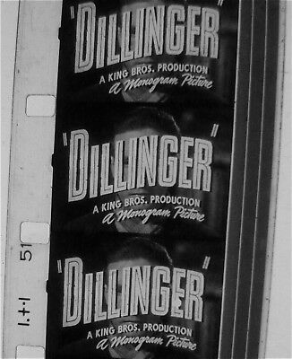 16Mm Rare--Lawrence Tierney----Dillinger---- Theatrical Trailer---