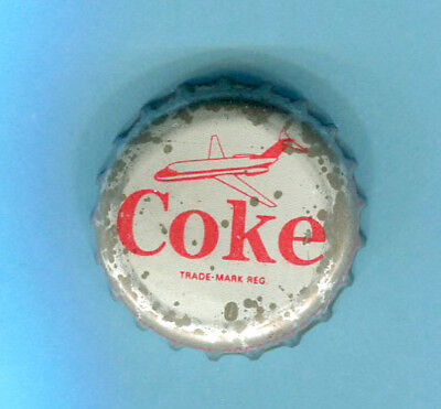 COCA COLA SODA BOTTLE CAP with a Airplane on cap - Used Cap