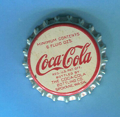 UNUSED CORK LINING COCA COLA BOTTLE CAP from SP0KANE, WASH.