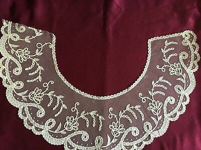 Beautiful Vinage Cotton Brussels  Lace Collar
