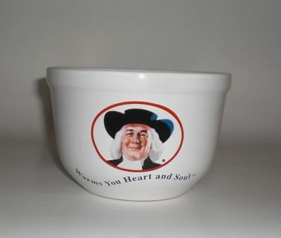 Quaker Oats Oatmeal Bowl Warms Your Heart and Soul White 1999 Vintage