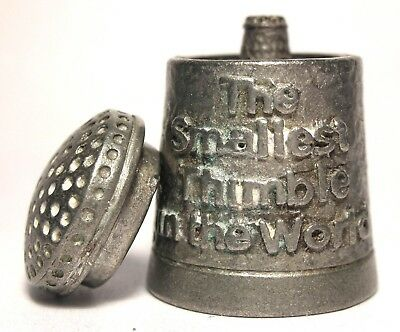 """The Smallest Thimble In The World"" Pewter Thimble - Made in England"