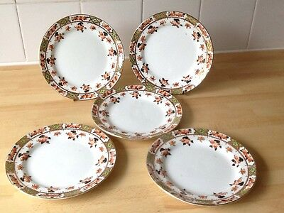 5 Antique Victorian Royal Sutherland Tea Plates.