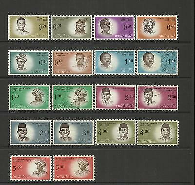 INDONESIA ~ 1961-62 NATIONAL INDEPENDENCE HEROES (3 series)