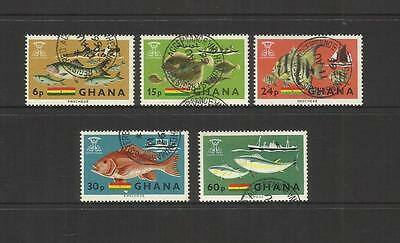 Ghana ~ 1966 Freedom From Hunger (Used Set) Fish