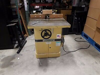 Powermatic Model 27 Shaper, 5 HP, Single Phase, Router Spindle, Great Cond