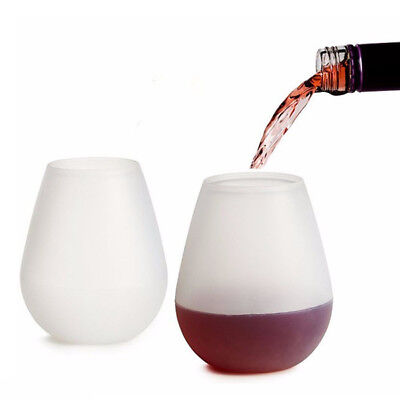 Silicone Wine Cups Foldable Beer Glasses Unbreakable Glasses Non Slip Stoup Gift