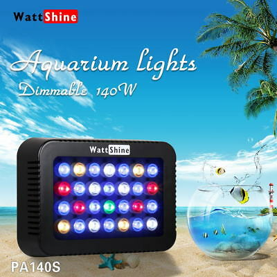 140W Dimmable LED Aquarium Light Lamp Colorful Dimmer For Marine Reef Coral Fish