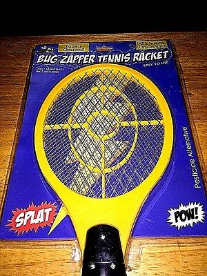 Bug Zapper Tennis Racket Kills Insects On Contact - Battery Operated - Easy Use