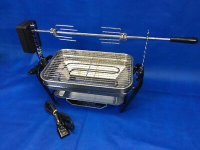 Farberware Electric Open Hearth Broiler Smokeless Indoor Grill 450A W/Rotisserie