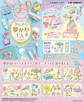 10/2017 Re-Ment Miniature Sanrio Little Twin Stars Cosmetics Full set of 8 pcs