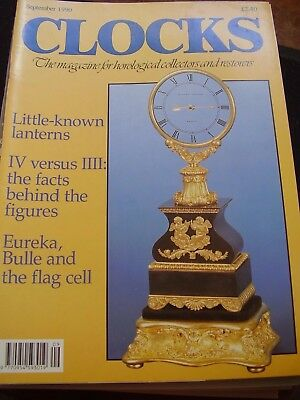Clocks Horological Magazines - September 1990 Bulle Flag Cell Eureka Lanterns