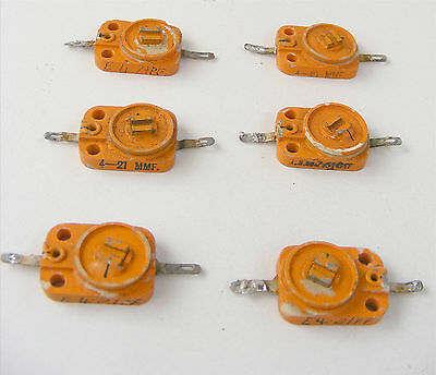 5 x 4 - 21pF 1 x 1.5 - 7.5 pF TRIMMER CAPACITOR VINTAGE VALVE WW2 MILITARY RADIO