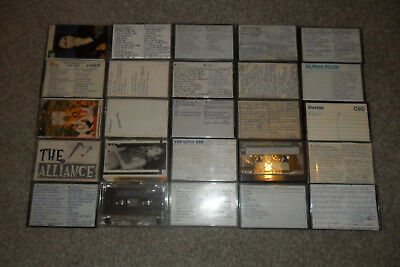 25 Used CASSETTE TAPES & Cases (Mainly C90)