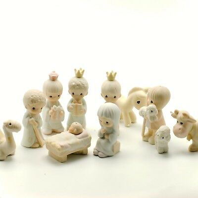 Precious Moments Nativity Scene E2395 1982 Come Let Us Adore Him 11Pc Collection