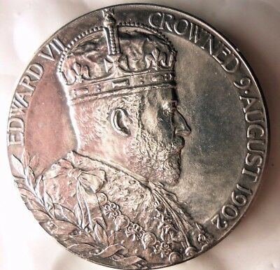 1902 GREAT BRITAIN SILVER CORONATION MEDAL - King Edward VII - Perfect -Lot #116