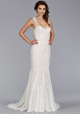 Nwt Jim Hjelm Style # 8453 Mermaid Lace Embellished Gown Wedding Size 12
