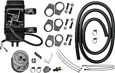 Jagg Oil Coolers Vertical Frame-Mount 10 Row Fan Assisted Oil Cooler Kit Black