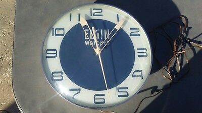 Vintage Elgin Watches Light up Advertising Clock Original PAM