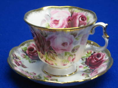 "Vtg.royal Albert Tea Cup & Saucer-Summer Bounty Series ""ruby"""