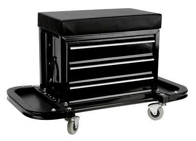 Rolling Tool Chest Seat Creeper ToolBox Organizer Garage Cabinet Roller Seat New