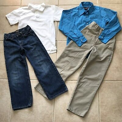 Lot of Boys Clothes Shirts Jeans Pants School Winter Size 10-12