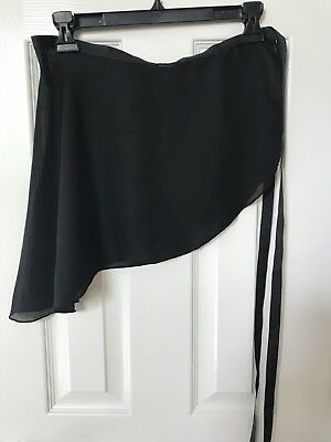 Adult Capezio Sheer Ballerina/Ballet Wrap Skirt  Black One Size