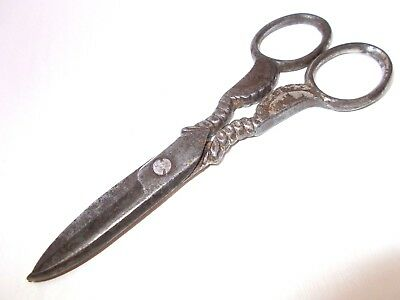 Vintage scissors sewing tool antique with queen king portrait 1920's Hungary