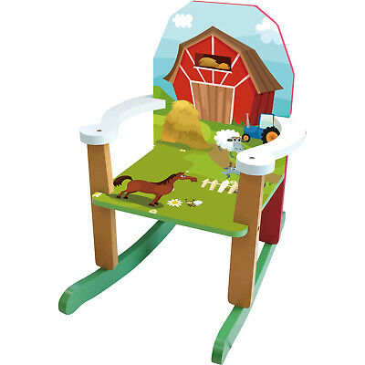 Wood Farm Rocking Chair Lightweight and Sturdy Construction