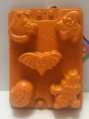 Happy Halloween Jell-O Jiggler Shot Molds Set Orange Halloween Mold