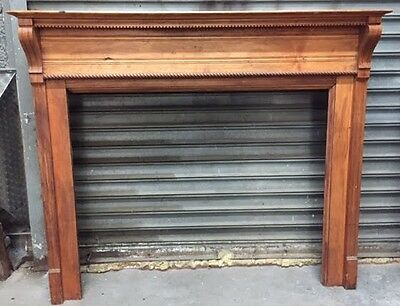 Antique Oak Fireplace Mantel - Architectural Salvage from Historic Brownstone
