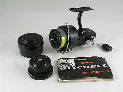 Garcia-Mitchell 300 Spinning Reel with TWO Spare Spools & Manual