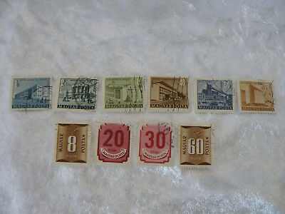 Vintage Magyar Postage Stamps X 10 Lot C Nice Collection  See Pictures