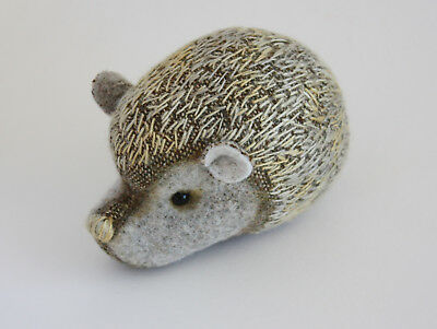 Wool Embroidery Collectible pet animal hedgehog handmade Marjji