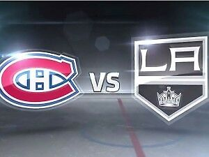 2 tickets Montreal Canadiens vs Los Angeles Kings october 26