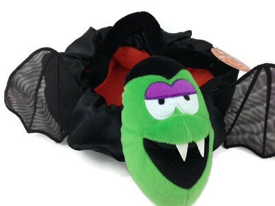 Halloween Trick or Treat Candy Boys Soft Figural Plush Basket Dracula BAT Wings