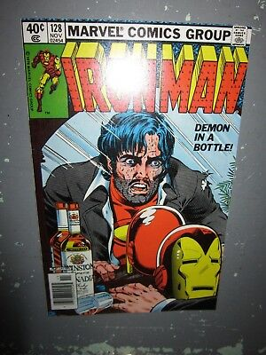 Iron Man 128 Demon In A Bottle Bob Layton Classic Key Vf Tony Stark Alcoholism