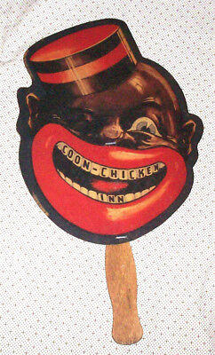 Coon-Chicken Inn Fan Menu - Black Americana - Advertising
