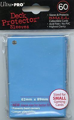 Ultra Pro Card Supplies YUGIOH Deck Protector Sleeves Light Blue 60 Count