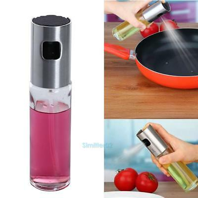 Oil Pump Spray Fine Bottle Stainless Steel Glass Olive Can Kitchen Cooking Tool