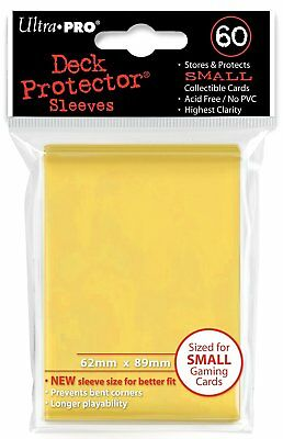 Ultra Pro Card Supplies YUGIOH Deck Protector Sleeves Yellow 60 Count