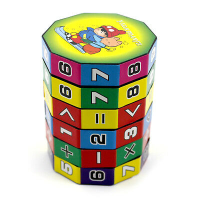 Children Colorful Educational Toy Cylindrical Rotate Learning Math Teaching Toy