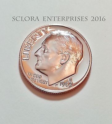 1969 S Roosevelt  *PROOF*  Dime  **FREE SHIPPING**