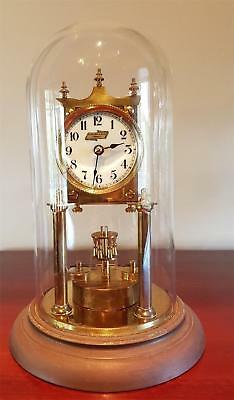 Vintage Schatz Brass And Glass Dome Anniversary Clock From Levinson & Sons Perth