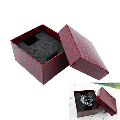 Red PU Noble Durable Present Gift Box Case For Bracelet zewelry Watch *