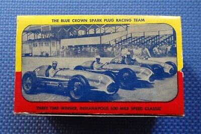 Indy 500 Race BLUE CROWN Spark Plugs - NOS FULL BOX - Mauri Rose