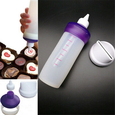 Silicone Cream Chocolate Candy Melt Squeeze Bottle Cake Decorating Baking DIY